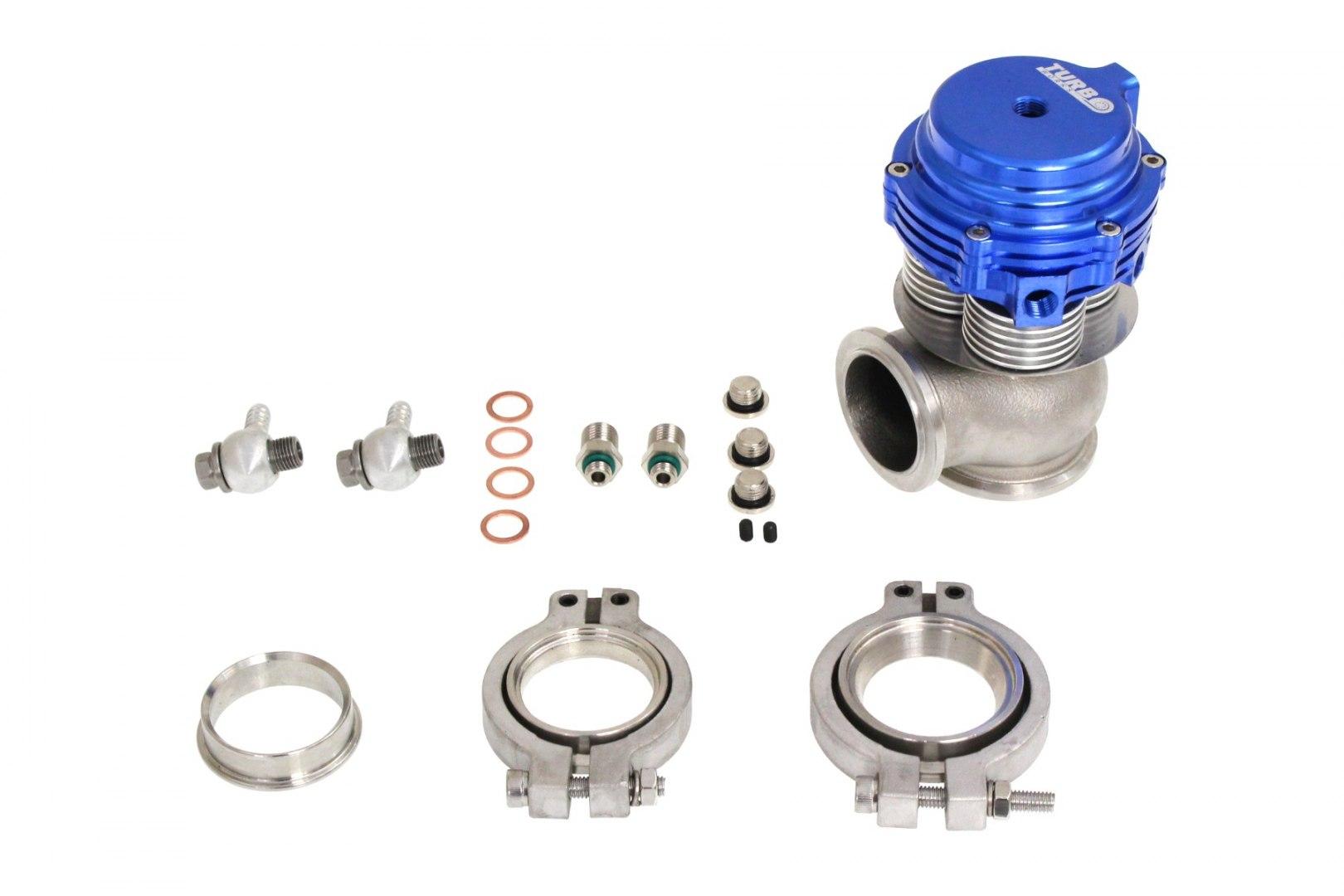 Wastegate zewnętrzny TurboWorks 38mm chłodzony wodą 2,5 Bar V-Band Blue - GRUBYGARAGE - Sklep Tuningowy